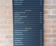 1420 BEVERLY ROAD BUILDING – Changeable Aluminum Directory Sign in McLean, VA