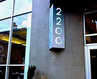 2200 ARCH STREET – LED Illuminated Galvanized Steel Stencil Cut Sign with Frosted Acrylic Back-up Panel in Philadelphia