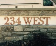 234 WEST- Satin Bronze Titanium Fabricated Letters in Haverford, PA