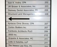32–75 STEINWAY STREET - Changeable Aluminum Directory Sign in Astoria, NY