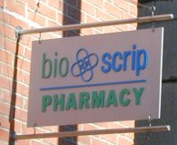 BIO-SCRIP – Custom Aluminum Blade Sign with Painted Dimensional Graphics in Philadelphia