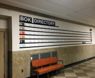 BOK BUILDING - Changeable Aluminum Directory Sign in Philadelphia