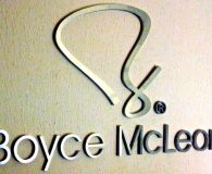 BOYCE MCLEAN - Satin Solid Aluminum Letters Pin Mounted onto Clients Wall shipped to Providence, RI