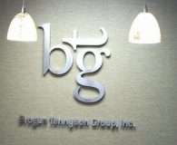 BROGEN TENNYSON GROUP - Satin Solid Aluminum Letters Pin Mounted onto Clients Wall in Dayton, NJ