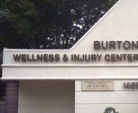 BURTON WELLNESS & INJURY CENTER - LED Illuminated Halo-Lit Reverse Channel Letters in Wynnewood, PA