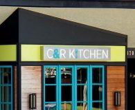 C & R KITCHEN - LED Illuminated Stainless Steel Stencil Cut Sign with Acrylic Push Through Letters in Merion Station, PA