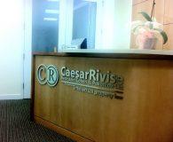 CAESARRIVISE - Satin Aluminum Metalike™ Letters in Philadelphia