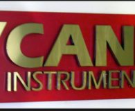 CANNON INSTRUMENT GROUP – Polished Brass Fabricated Letters Mounted on a Laminated Panel installed in State College, PA