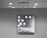 CRESA - LED Illuminated Aluminum Stencil Cut Sign with White Acrylic Back-up Panel in Conshohocken, PA