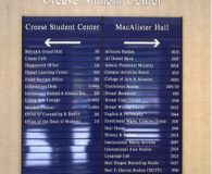 DREXEL UNIVERSITY - Changeable Aluminum Directory Sign in Philadelphia