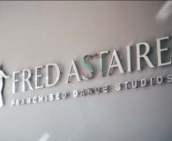 FRED ASTAIRE – Polished Aluminum Metalike™ Letters shipped to Delray Beach, FL