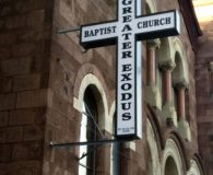 GREATER EXODUS BAPTIST CHURCH – LED Illuminated Church Cross Sign in Philadelphia