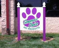 GROOMER'S CHOICE – Digital Print On Dibond Post & Panel Sign in Trevose, PA