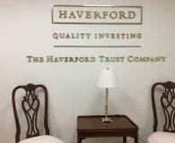 HAVERFORD TRUST COMPANY – Polished Brass Solid Letters Pin Mounted onto Clients Wall in Radnor, PA