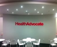 HEALTH ADVOCATE – RGB LED Illuminated Channel Letters in Blue Bell, PA