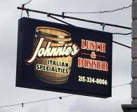 JOHNNIE'S RESTAURANT - LED Illuminated Aluminum Stencil Cut Sign with Multi-Color Acrylic Back-up Panel and Push Through Acrylic in Philadelphia
