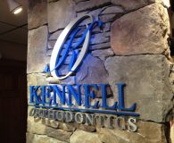 KENNEL ORTHODONTICS – Combination of Painted Acrylic & Brushed Aluminum Metalike™ Letters shipped to Laconia, NH