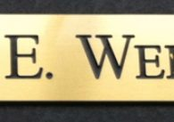 KEVIN WEINSTEIN – Black Filled Engraved Brass Name Plate Sign in Philadelphia, PA