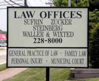 LAW OFFICES SUFRIN ZUCKER STEINBERG SONSTEIN & WIXTED - Florescent Lamped Illuminated Sign Box with Vinyl Printed Copy in Blackwood, NJ
