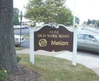 MELLON BANK - 23K Gold Leaf Filled Carved Sign in Abington, PA