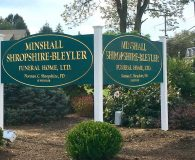 MINSHALL SHROPSHIRE - 23K Gold Leaf Filled Carved Signs in Media, PA