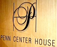 PENN CENTER HOUSE - Satin Solid Aluminum Letters Pin Mounted onto Clients Wall in Philadelphia