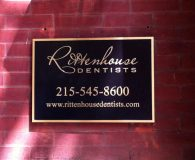 RITTENHOUSE DENTISTS – Cast Bronze Metal Plaque in Philadelphia