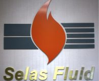 SELAS FLUID PROCESSING CORPORATION – Satin Brass & Painted Fabricated Stainless Steel Fabricated Letters in Blue Bell, PA