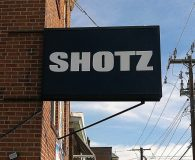 SHOTZ BAR - Florescent Lamped Illuminated Sign Box with Vinyl Printed Copy in Philadelphia