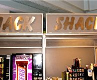 SNACK SHACK – Satin Stainless Steel Fabricated Letters shipped to Skohegan, Maine