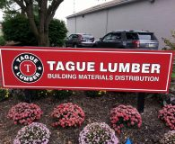 TAUGE LUMBER – Paint Filled Carved Sign in Kennett Square, PA