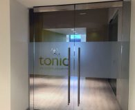 TONIC LIFE COMMUNICATIONS - Frosted Vinyl Applied to Glass Doors in Philadelphia