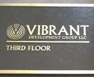 VIBRANT - Cast Bronze Metal Plaque in Philadelphia
