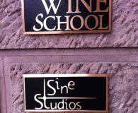 WINE SCHOOL - Cast Bronze Metal Plaque in Philadelphia