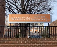 HAMILTON TOWNHOMES Fence Sign