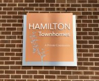 HAMILTON TOWNHOMES Wall Sign